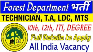 Tropical Forest Research Institute TFRI Recruitment 2019 for 36 Technician, MTS, Forest Guard, Technical Assistant, Stenographer etc