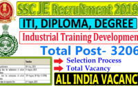 hssc Recruitment for 3206 posts of Skill Development & Industrial Training Department