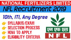 NFL-NATIONAL FERTILIZERS LIMITED Recruitment 2019 41 NON-EXECUTIVES post – Apply Online