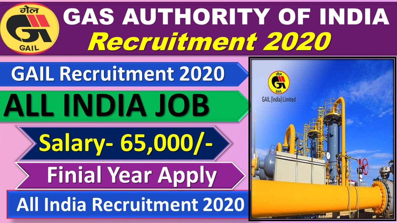 GAIL Recruitment 2020 for Executive Trainee Posts || GAS AUTHORITY OF INDIA LTD Recruitment 2020