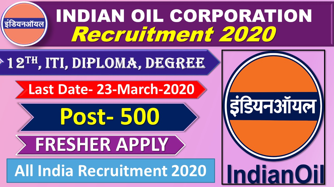 IOCl India Oil Corporation Recruitment 2020 Engagement of Technical and Non-Technical Apprentices