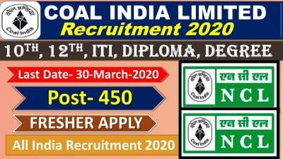 NCL Northern Coalfields Limited Recruitment 2020 for 359 Operator, Staff Nurse & Other Posts