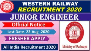 WESTERN RAILWAY JR. TECHNICAL ASSOCIATE (WORKS / ELECTRICAL/TELE/S&T Recruitment 2020